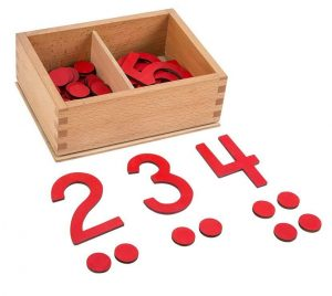 wooden montessori numbers